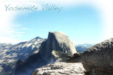 Yosemite Valley view of Half Dome